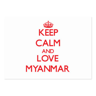 Keep Calm and Love Myanmar Large Business Cards (Pack Of 100)