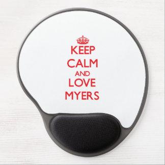 Keep calm and love Myers Gel Mousepad
