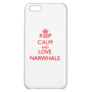 Keep calm and love Narwhals Case For iPhone 5C