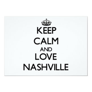 Keep Calm and love Nashville Cards