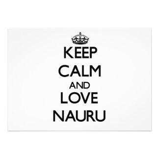 Keep Calm and Love Nauru Personalized Invites
