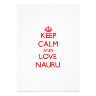 Keep Calm and Love Nauru Personalized Invitation