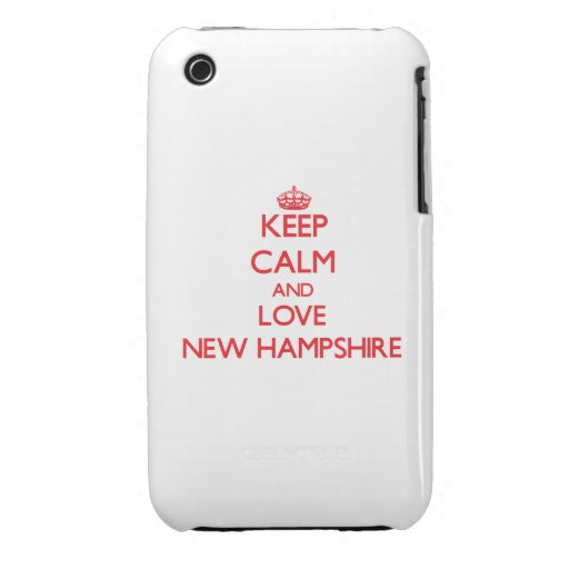 Keep Calm and Love New Hampshire iPhone 3 Cases