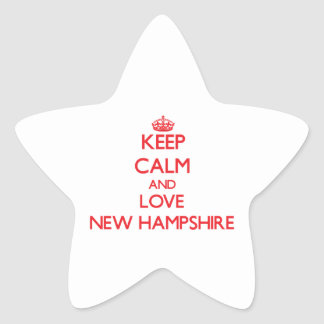 Keep Calm and Love New Hampshire Stickers