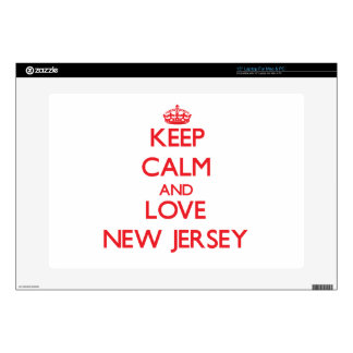 Keep Calm and Love New Jersey Laptop Skin
