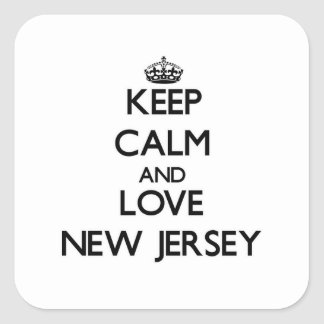 Keep Calm and Love New Jersey Stickers