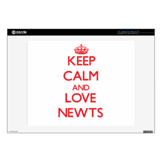"""Keep calm and love Newts Skin For 14"""" Laptop"""