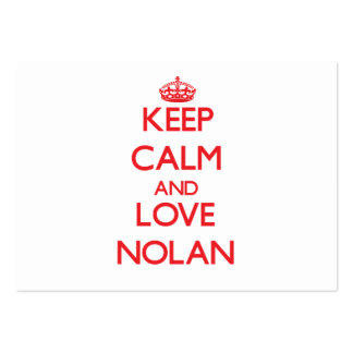 Keep calm and love Nolan Large Business Cards (Pack Of 100)