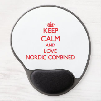 Keep calm and love Nordic Combined Gel Mouse Mats