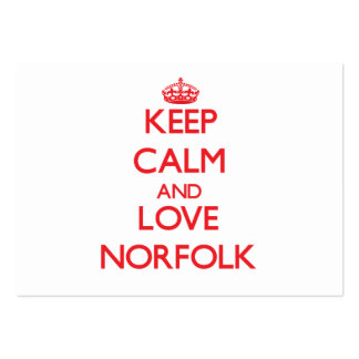 Keep Calm and Love Norfolk Business Cards
