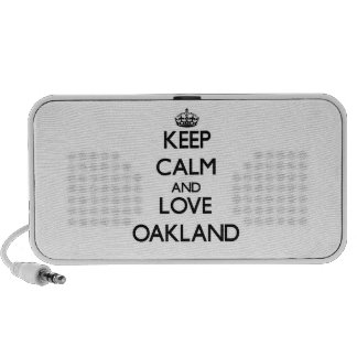 Keep Calm and love Oakland iPhone Speaker