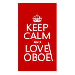 Keep Calm and Love Oboe (any background color) Double-Sided Standard Business Cards (Pack Of 100)