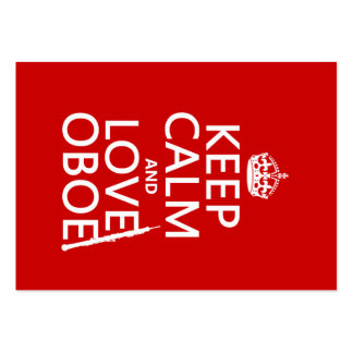 Keep Calm and Love Oboe (any background color) Large Business Cards (Pack Of 100)