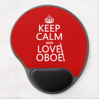 Keep Calm and Love Oboe (any background color) Gel Mouse Pad