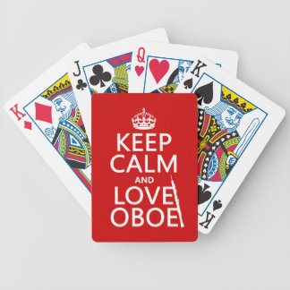 Keep Calm and Love Oboe (any background color) Bicycle Poker Deck