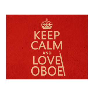 Keep Calm and Love Oboe (any background color) Queork Photo Print
