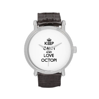 Keep calm and Love Octopi Wristwatch