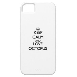 Keep calm and love Octopus iPhone 5 Case