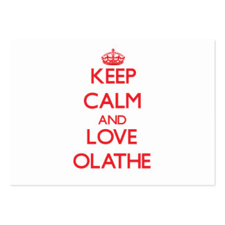 Keep Calm and Love Olathe Large Business Cards (Pack Of 100)