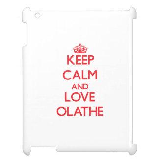 Keep Calm and Love Olathe Case For The iPad