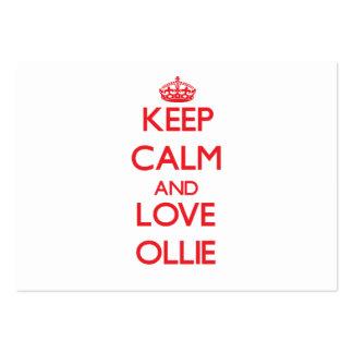 Keep Calm and Love Ollie Business Card Templates