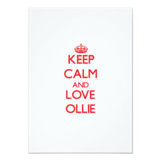 Keep Calm and Love Ollie Personalized Invitations