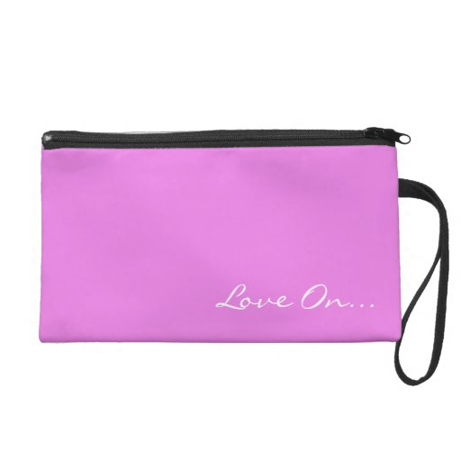Keep Calm and Love On Pink Wristlet Clutches