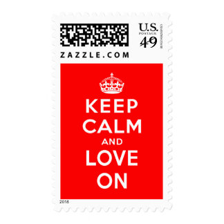 Keep Calm and Love On Postage Stamp