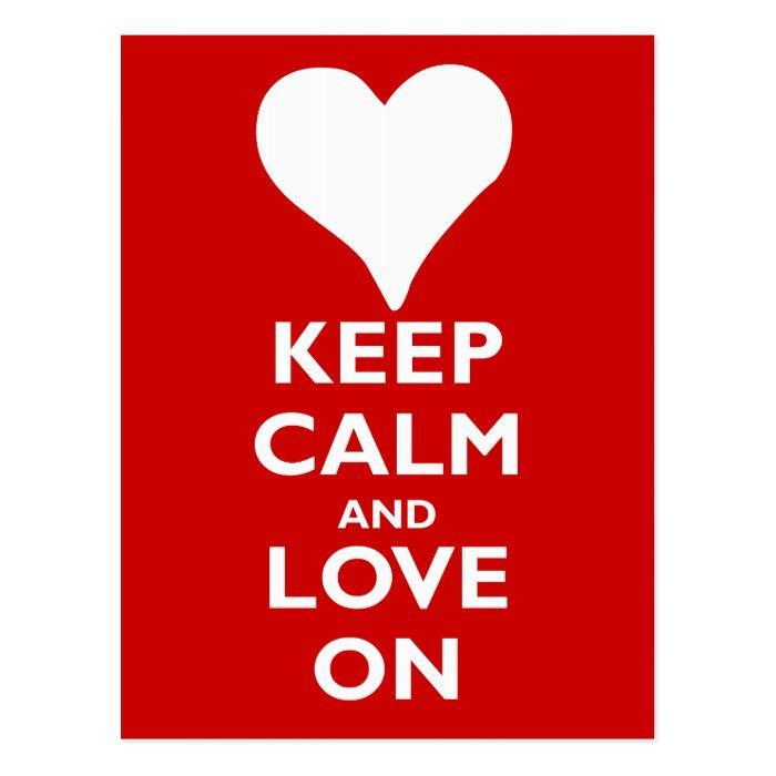 Keep Calm and Love On Postcard