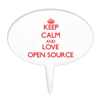 Keep calm and love Open Source Cake Pick