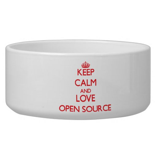 Keep calm and love Open Source Pet Food Bowls