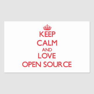 Keep calm and love Open Source Rectangle Stickers