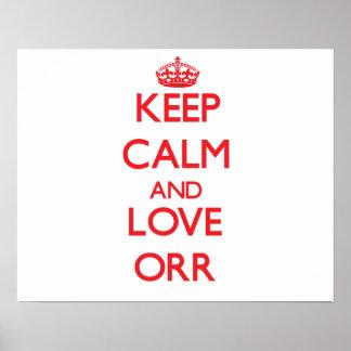 Keep calm and love Orr Print
