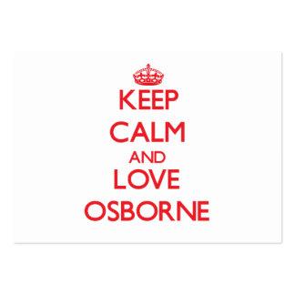 Keep calm and love Osborne Business Card Templates