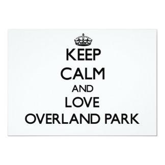Keep Calm and love Overland Park Custom Invites