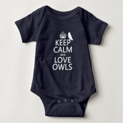 Baby Jersey Bodysuit with Keep Calm and Love Owls design