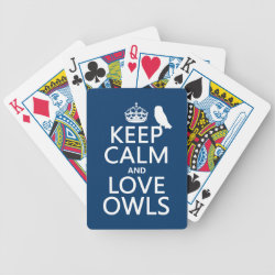 Keep Calm and Love Owls Playing Cards