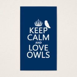 Business Card with Keep Calm and Love Owls design