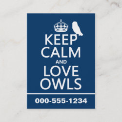 with Keep Calm and Love Owls design