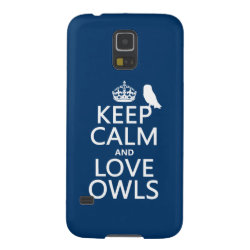 Case-Mate Barely There Samsung Galaxy S5 Case with Keep Calm and Love Owls design