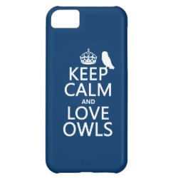 Case-Mate Barely There iPhone 5C Case with Keep Calm and Love Owls design