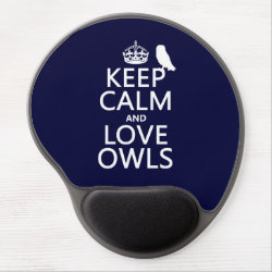 Gel Mousepad with Keep Calm and Love Owls design