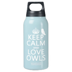 SIGG Thermo Bottle (0.5L) with Keep Calm and Love Owls design