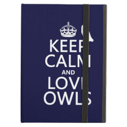 Keep Calm and Love Owls iPad Air Powis Case