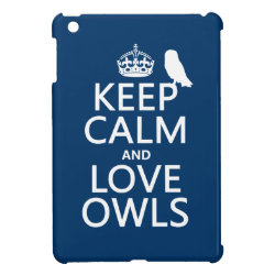 Case Savvy iPad Mini Glossy Finish Case with Keep Calm and Love Owls design
