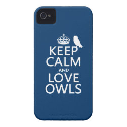 Keep Calm and Love Owls Case-Mate iPhone 4 Barely There Universal Case