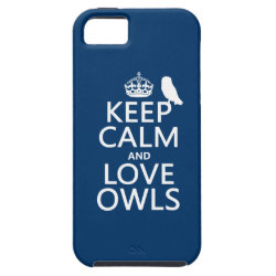 Case-Mate Vibe iPhone 5 Case with Keep Calm and Love Owls design