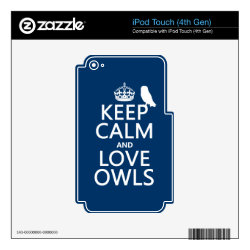 iPod Classic (80/120/160GB) Skin with Keep Calm and Love Owls design