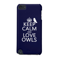 Keep Calm and Love Owls Case-Mate Barely There 5th Generation iPod Touch Case