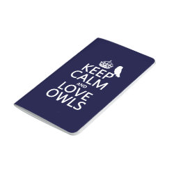 Pocket Journal with Keep Calm and Love Owls design